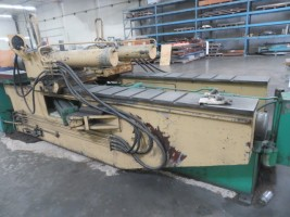 """A-12 Hufford 60-Ton Stretch Press With 24' Arms & 18"""" Sheet Jaws"""