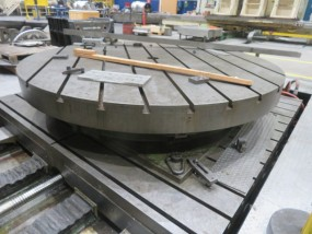 Giddings & Lewis 360,000 Degree Full Contouring 120 In X 126 In CNC Rotary Table